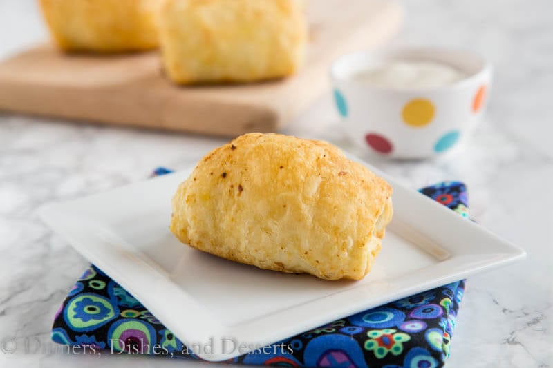 Spicy Sausage Rolls - Great for brunch or breakfast for dinner! A creamy, cheesy, spicy mixture with breakfast sausage is rolled with puff pastry and baked into flaky perfection!