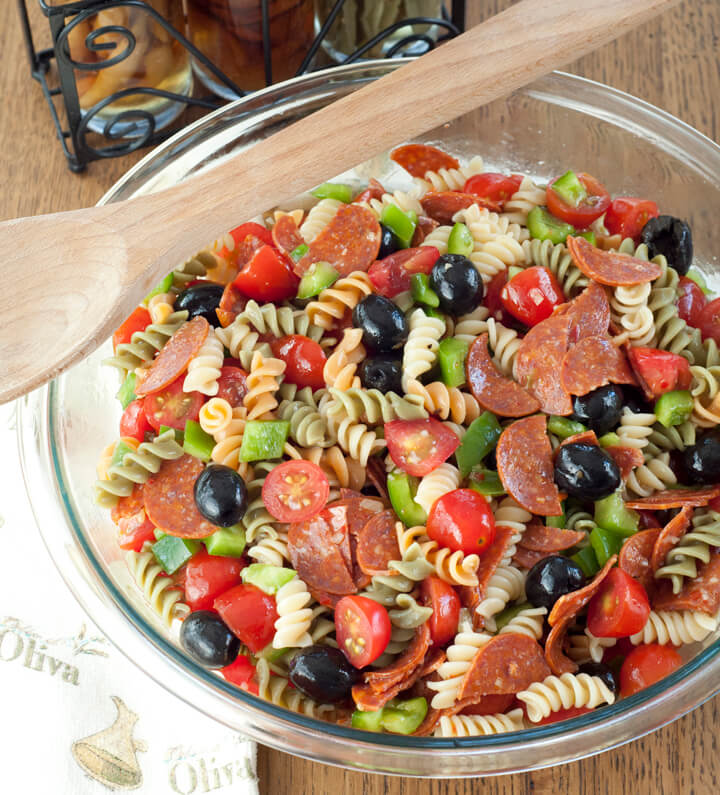 Classic Italian Pasta Salad Wishes And Dishes