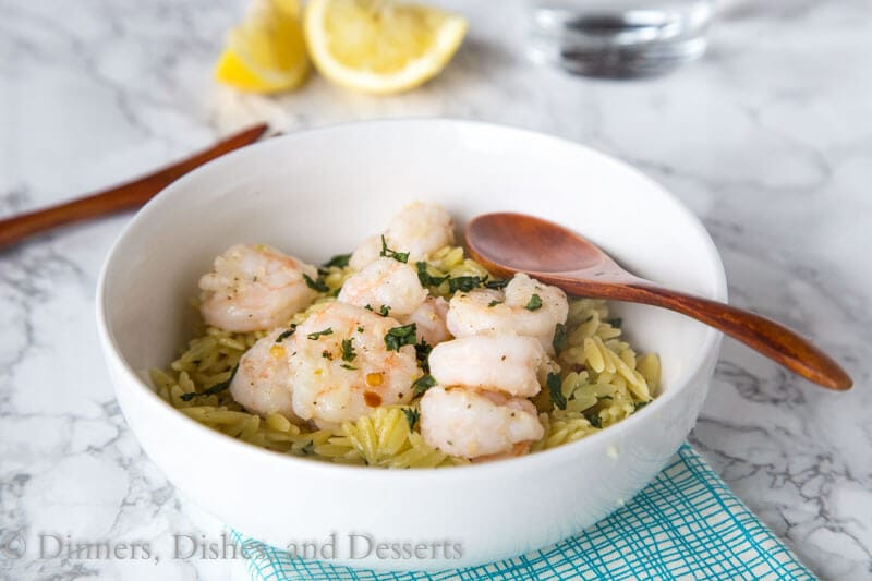 Lemon Pepper Shrimp Scampi - You can not get any easier than this shrimp scampi recipe. Ready in minutes, perfect dinner for any night of the week or even for entertaining!