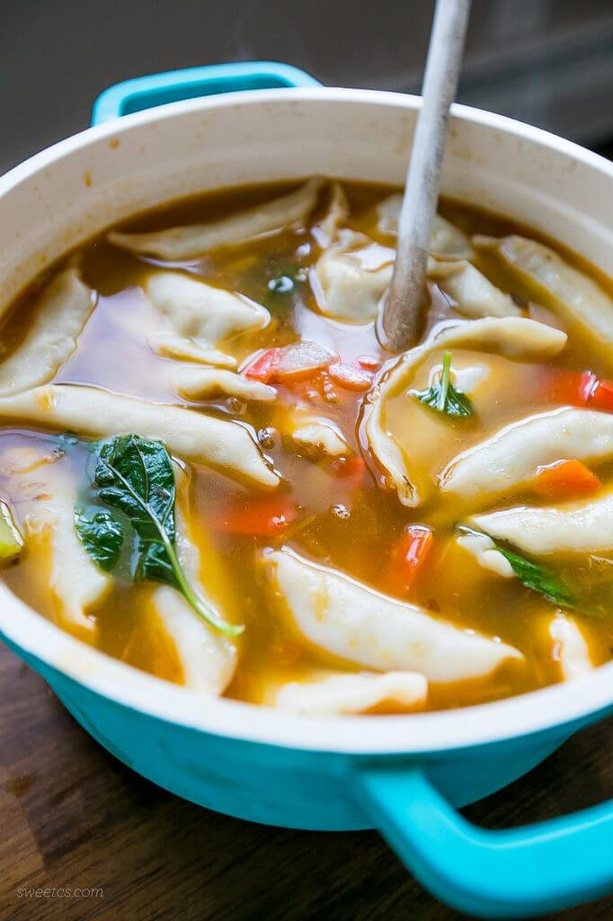 Potsticker Soup {Sweet C's Designs}