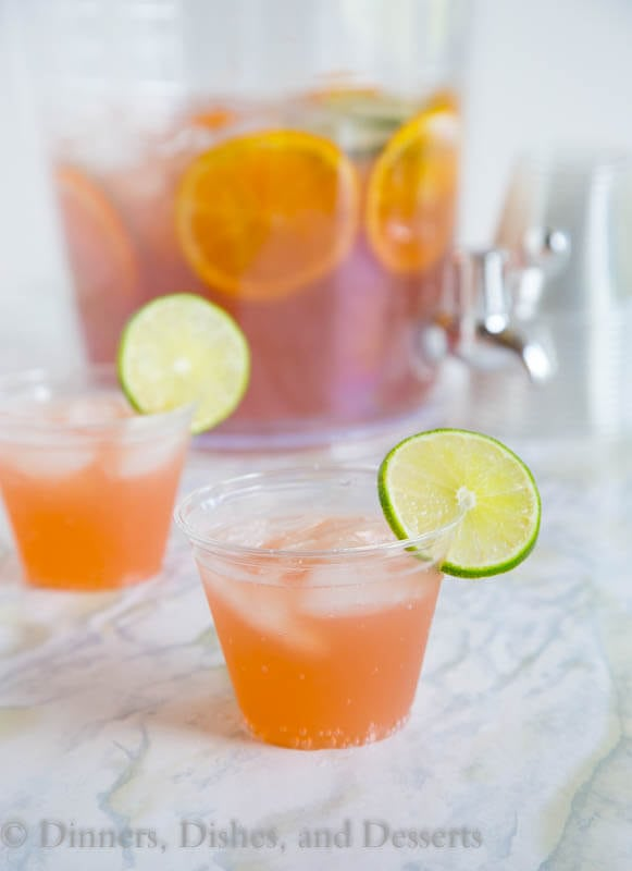 Party Punch - Just 3 ingredients to make this easy sparkling punch. Great for parties, showers, weddings, or any get together. Plus you can spike it for the grown ups!