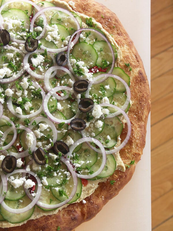 Mediterranean Hummus Pizza {Foodie with Family}