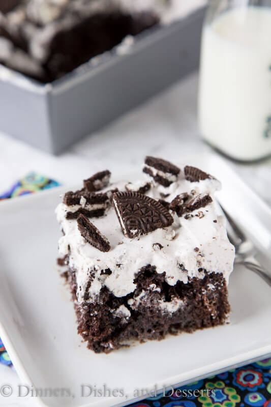 Chocolate pudding oreo cake