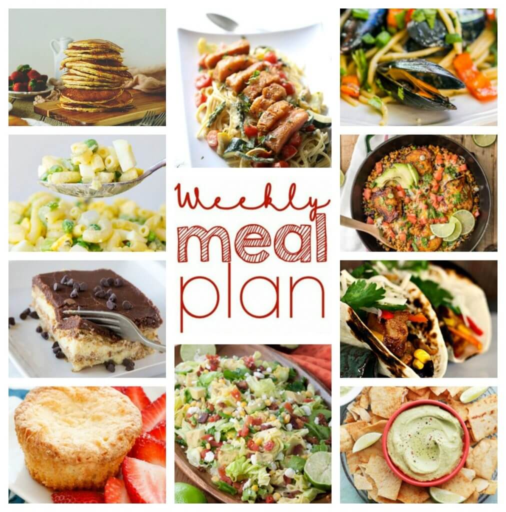 A bunch of different types of food, with Dinner and Plan