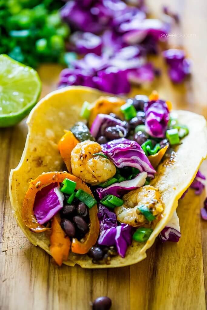 Roasted Shrimp Tacos {Sweet C's}
