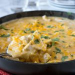 White Chicken Enchilada Skillet