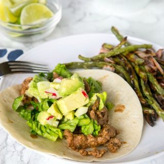 Blue Apron Review: Meal 1 - beef tacos with roasted green beans