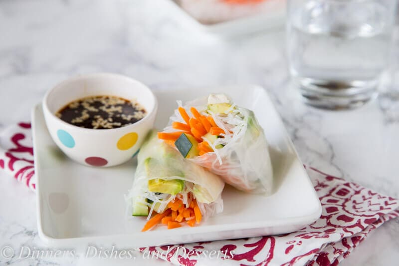 copycat tokyo joes spring rolls on a plate