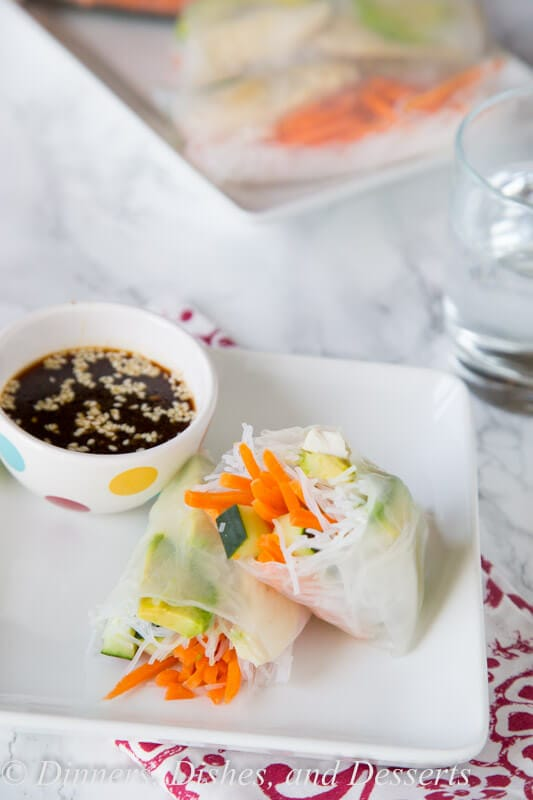 Copycat Tokyo Joes Chicken Spring Rolls - almost no cooking required to make this easy copy cat recipe for chicken spring rolls.