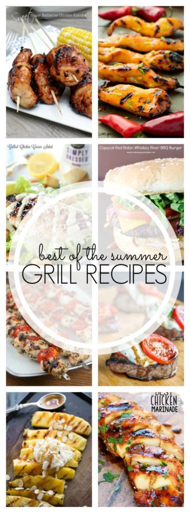 Summer Grilling Recipes - over 20 recipes that will have you covered for all of your grilling needs this summer!