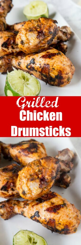 Chili Lime Grilled Chicken Drumsticks - add a ton of flavor to your chicken with this chili lime marinade. You can use on drumsticks, chicken breasts or just about anything for a quick and easy dinner.