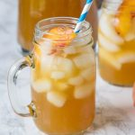 Peach Tea Punch - a refreshing and summery punch that is perfect for hot days! And even better with fresh summer peaches.