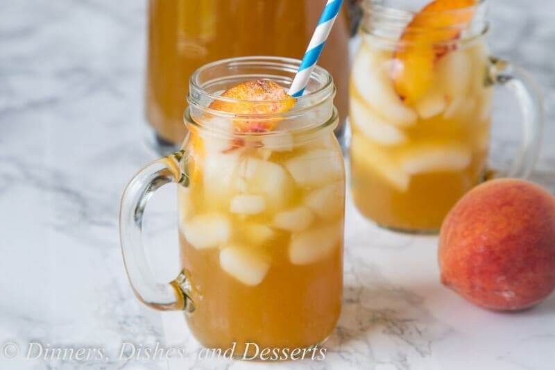 peach tea punch in a cup
