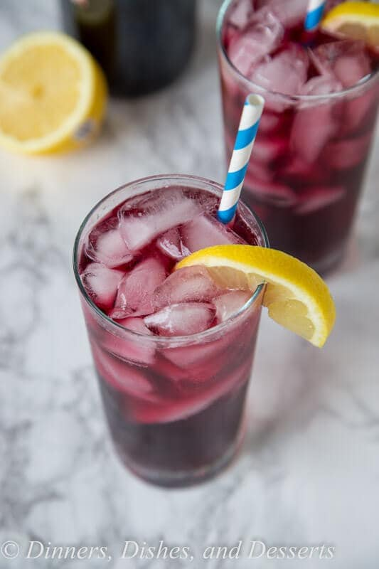 Red Wine Spritzer - Your favorite red or white wine can be use to make this cool and refreshing cocktail you can enjoy anytime of day! So easy, you can make in minutes, with just 2 ingredients!
