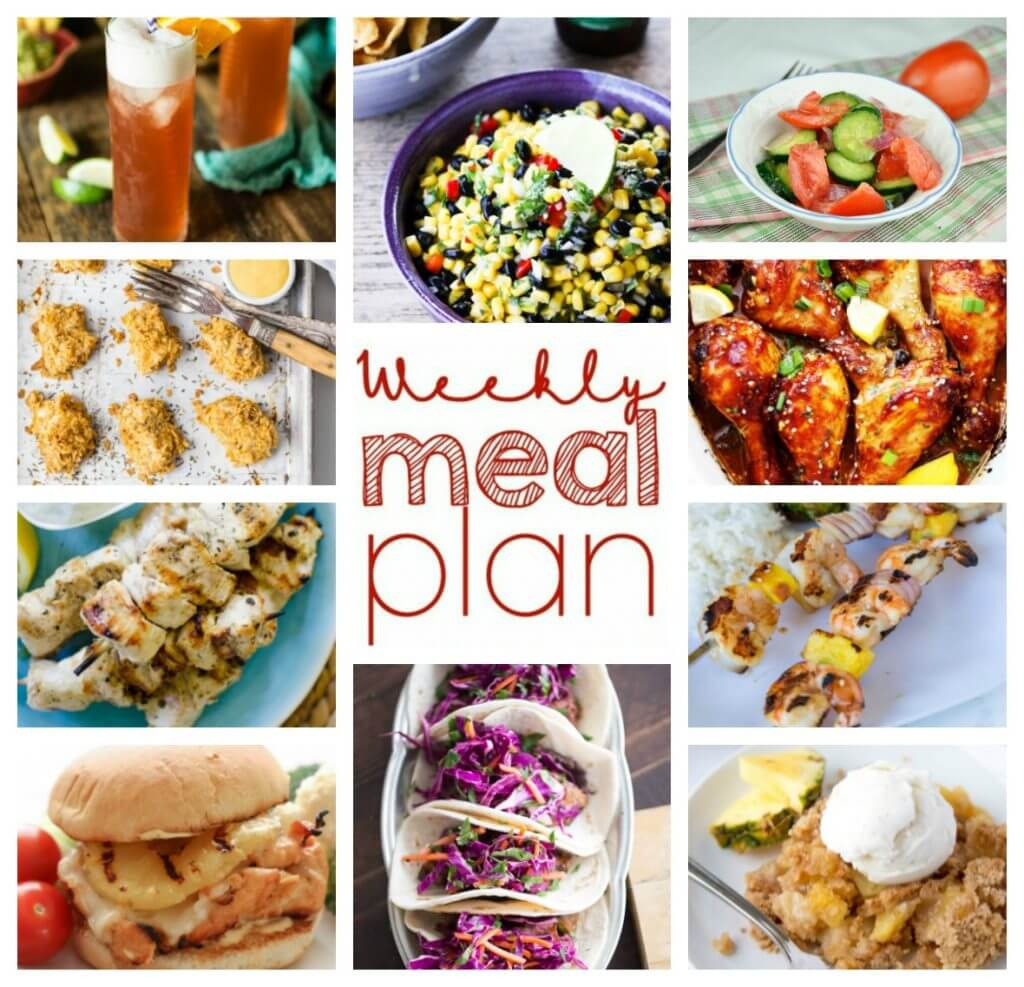 Weekly Meal Plan Week 55 – 10 great bloggers bringing you a full week of recipes including dinner, sides dishes, and desserts!