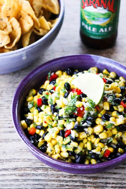 Corn and Black Bean Salsa {Foodie with Family}
