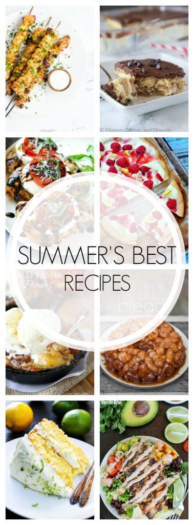 Summer Recipes - Over 20 recipes that scream summer!  Fresh veggies and fruit and summer flavors are the stars, and there is still time to make them all!