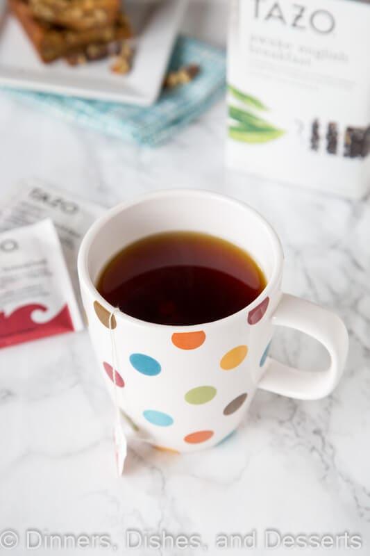 tazo tea in a cup
