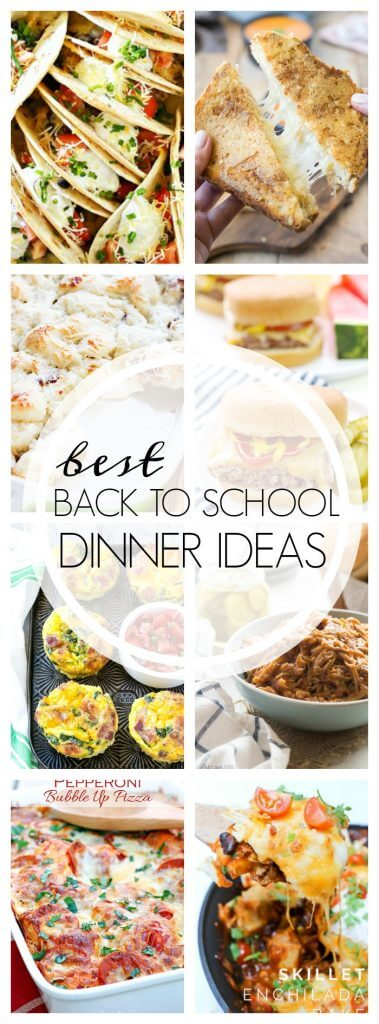 Back to School Recipes - Over 20 recipes that are perfect for those busy weeknights!