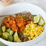 Barbecue Salmon Bowls