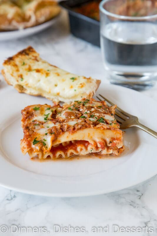 Micheal Angelo\'s lasagna on a plate