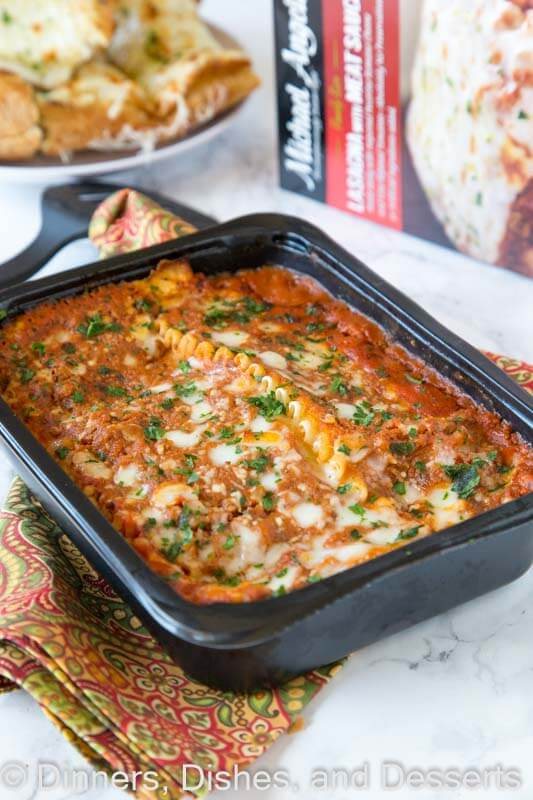 Micheal Angelo\'s lasagna in a pan