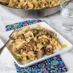 One Pot Beef Stroganoff - all the flavors of beef stroganoff in a quick and easy dinner. Much more budget friendly than the original!