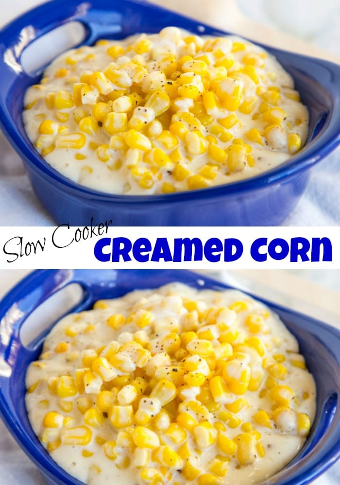 Crock Pot Creamed Corn - dress up your side dishes with this creamed corn. So much better than any canned stuff you can find.