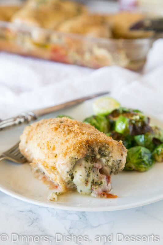 italian stuffed chicken on a plate