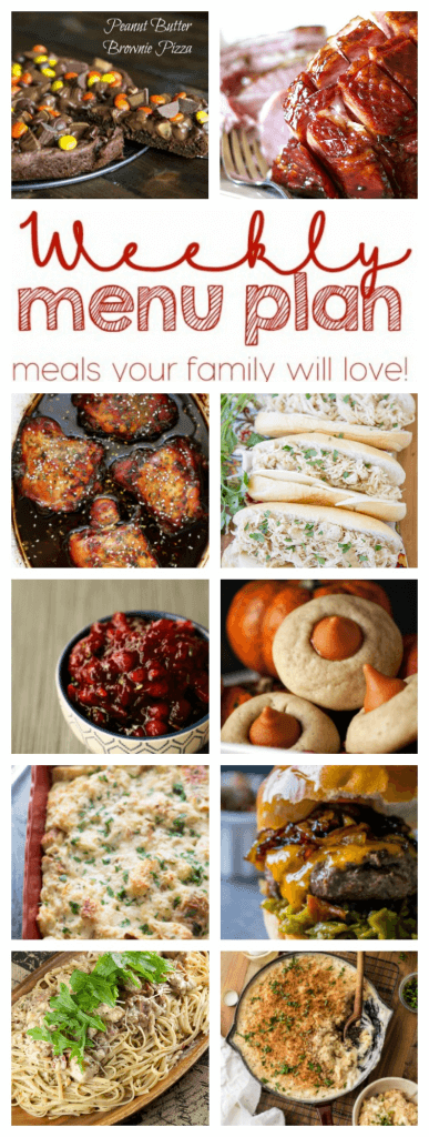 Weekly Meal Plan Week 68 – 10 great bloggers bringing you a full week of recipes including dinner, sides dishes, and desserts!