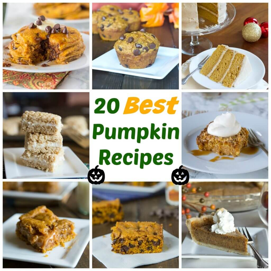 Pumpkin Recipes Round Up - 20 great recipes that are going to make you crack open that can of pumpkin in your pantry!