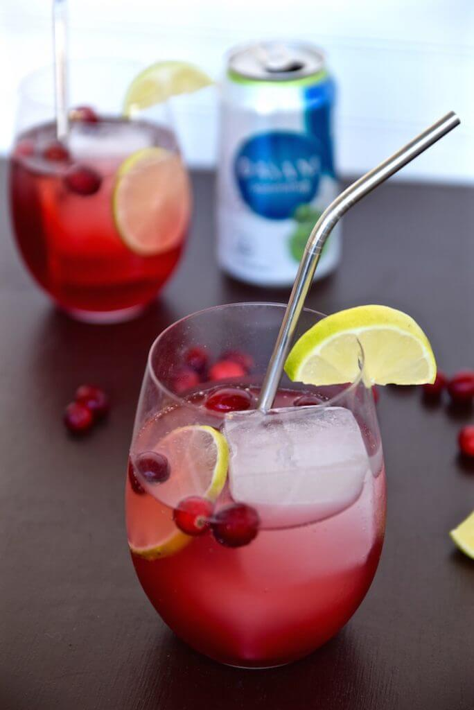 Cranberry Lime Sparkler {A Tasting Page}