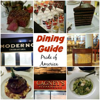 Dining Guide for the Pride of America