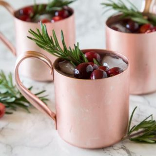 holioday moscow mules in cups