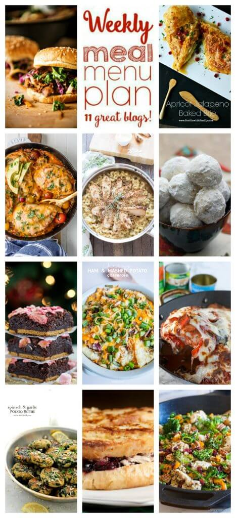 A bunch of different types of food, with Week
