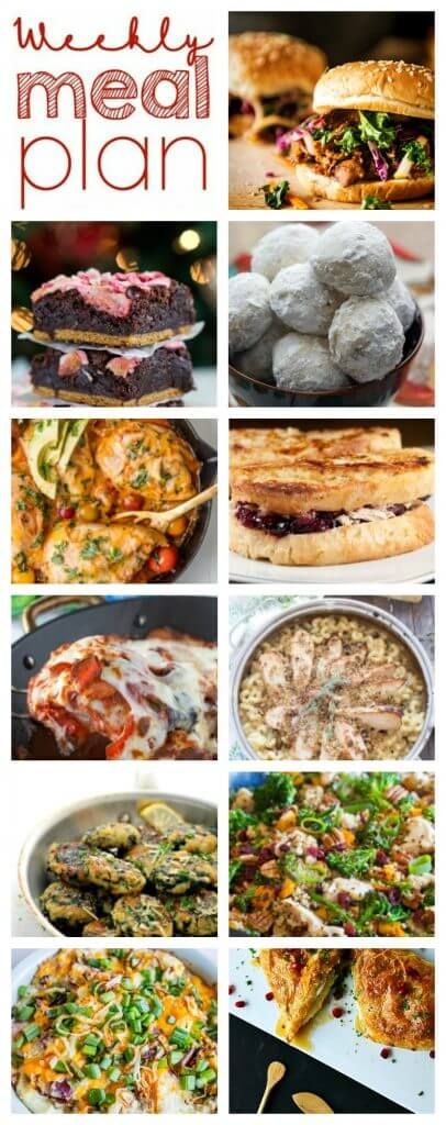 Weekly Meal Plan Week 72 – 11 great bloggers bringing you a full week of recipes including dinner, sides dishes, and desserts!