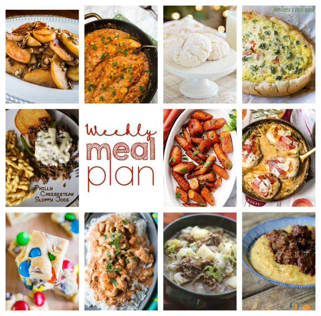 Weekly Meal Plan Week 73 – 11 great bloggers bringing you a full week of recipes including dinner, sides dishes, and desserts!