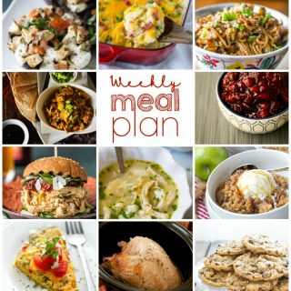 Weekly Meal Plan Week 70