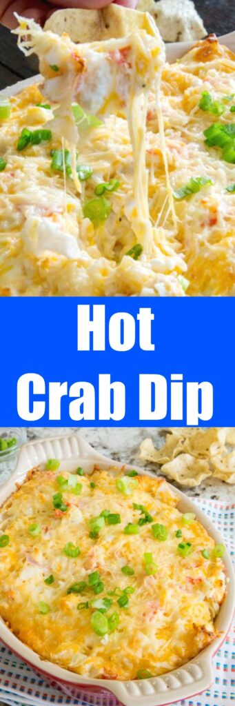 Hot Crab Dip Recipe - an easy and delicious cheesy dip that will be a hit and any party. A slightly spicy crab dip that is ready in minutes.