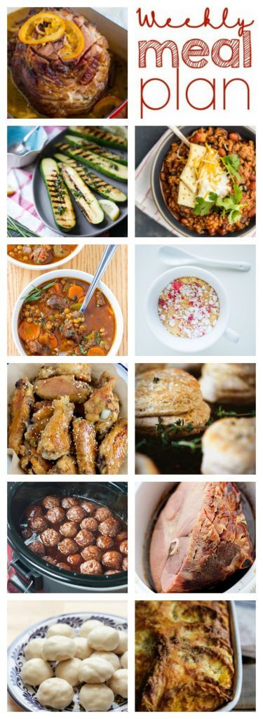 A bunch of different types of food, with Comfort