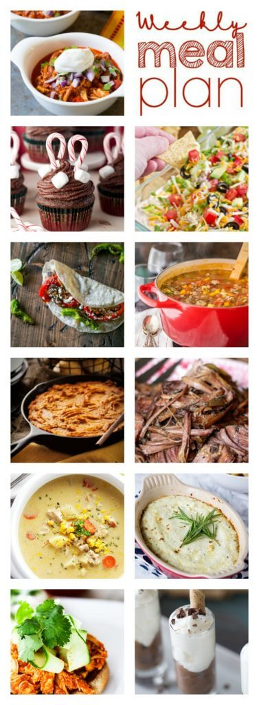 Weekly Meal Plan Week 76 – 11 great bloggers bringing you a full week of recipes including dinner, sides dishes, and desserts!