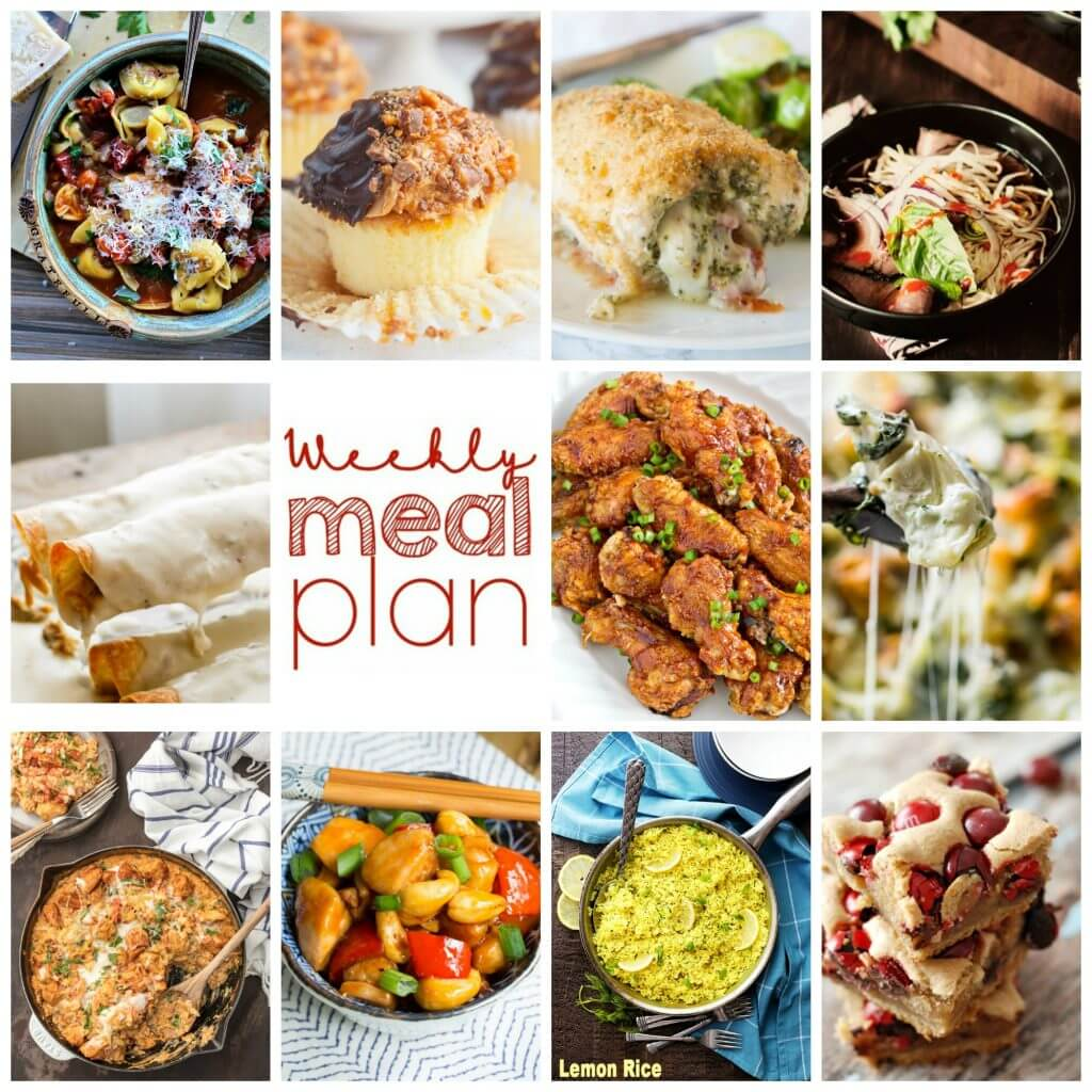 Weekly Meal Plan Week 79 – 11 great bloggers bringing you a full week of recipes including dinner, sides dishes, and desserts!