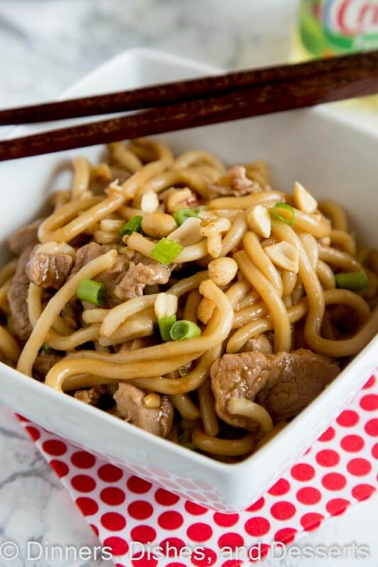 asian noodle bowls with pork dinners dishes and desserts