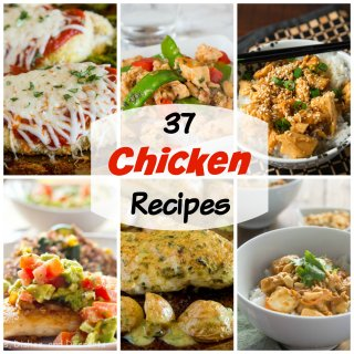 Chicken Recipes - 37 chicken recipes that you are going to want to make! Turn chicken into something delicious that is still healthy, and will get your family excited for chicken dinners.