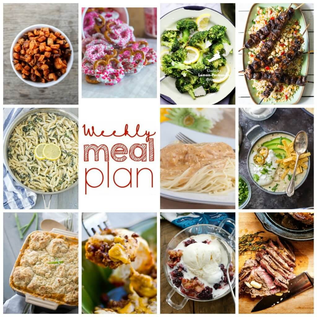 Weekly Meal Plan Week 82 – 11 great bloggers bringing you a full week of recipes including dinner, sides dishes, and desserts!