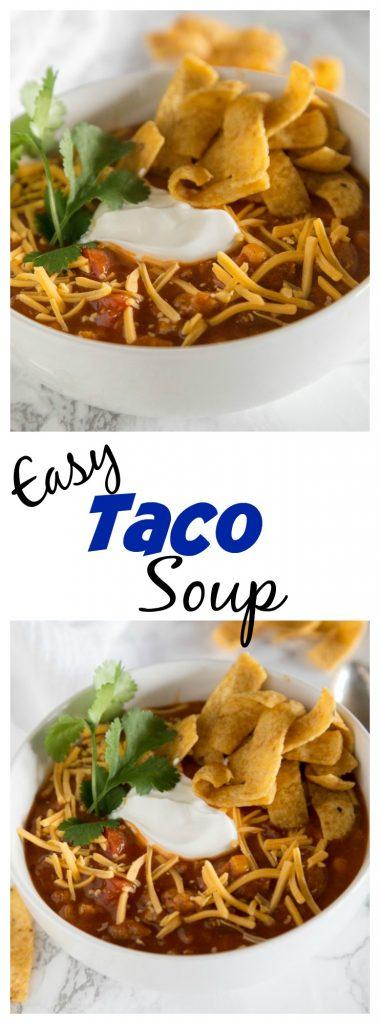 Close up of Taco soup