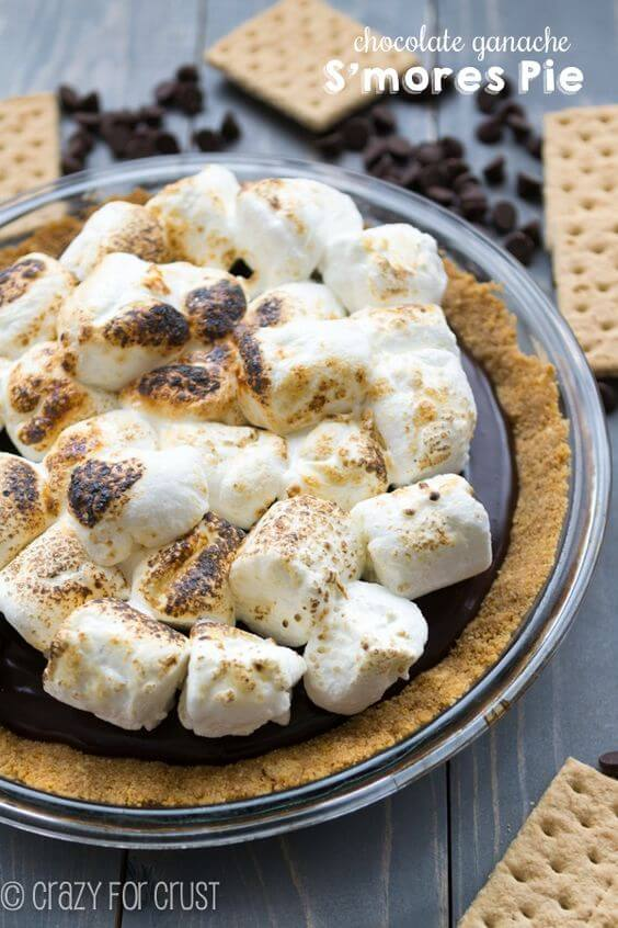 Chocolate Ganache S'mores Pie {Crazy for Crust}