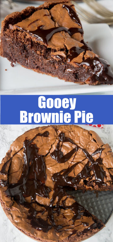 close up brownie pie collage for pinterest