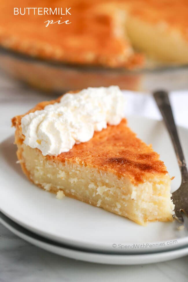 Buttermilk Pie {Spend with Pennies}