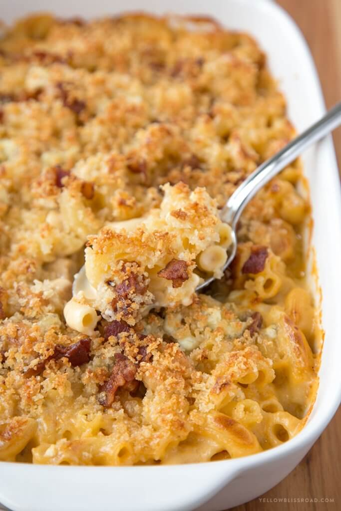 Chicken, Bacon, and Bluecheese Mac and Cheese {Yellow Bliss Road}